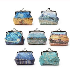 Famous oil painting coin purse bag crows & nights